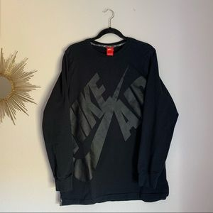 Nike Air Men's Black Sweatshirt Large